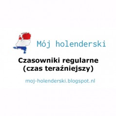 Czasowniki regularne w języku holenderskim (czas teraźniejszy)