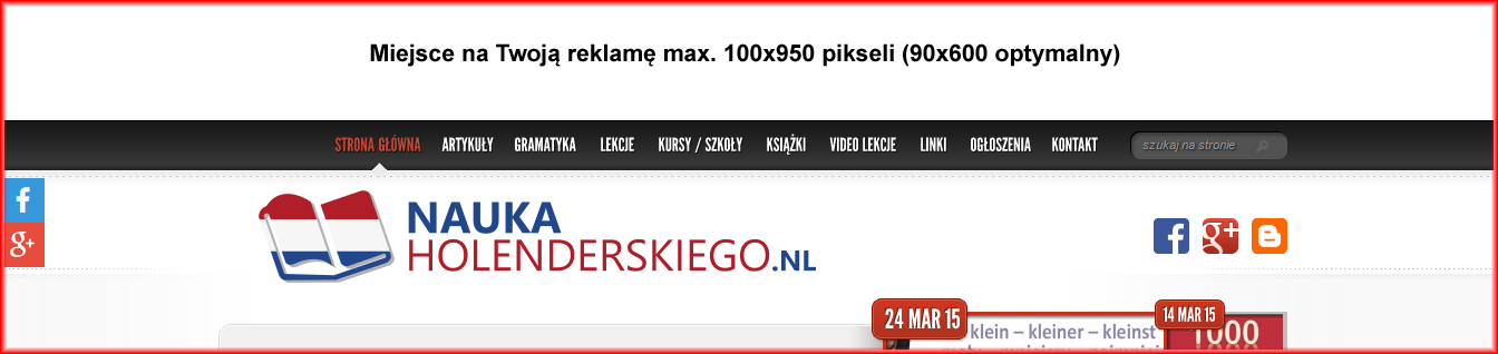 naglowek miejsce na twoją reklamę na naukaholenderskiego.pl