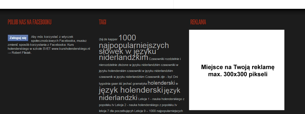 stopka miejsce na twoją reklamę na naukaholenderskiego.pl
