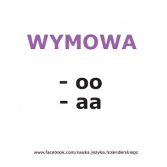 Wymowa w języku niderlandzkim -aa -oo [wideo]