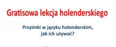 Gratisowa lekcja holenderskiego w Internecie 24 marzec 2015