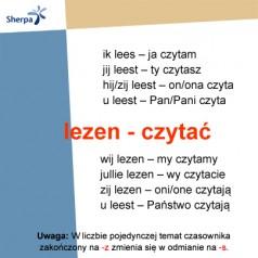 Odmiana i użycie czasownika lezen – czytać