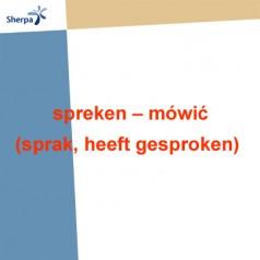 Odmiana i użycie czasownika spreken – mówić (sprak, heeft gesproken)
