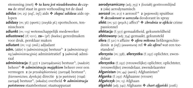 przykładowa strona słownika polsko niderlandzkiego kopia