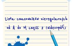 Czas przeszły – czasowniki mocne(nieregularne) sterke werkwoorden od A do M część 1 [wideo]