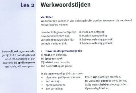 przykładowa strona ksiązki do nauki języka niderlandzkieog klare taal plus ok
