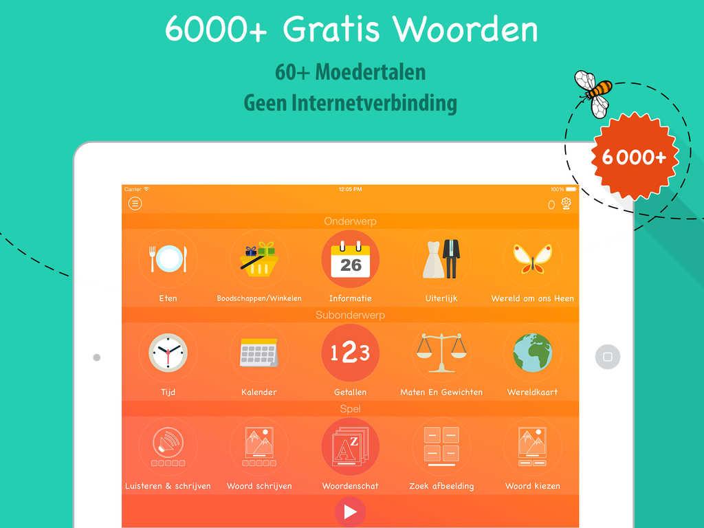 Nederlands Leren 6000 Woorden alikacja do nauki jezyka niderlandzkiego2