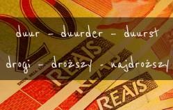 Stopniowanie i użycie przymiotnika duur – drogi, droga, drogie w języku niderlandzkim