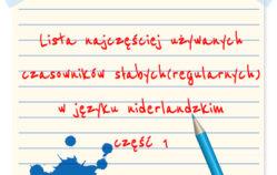 Czas przeszły – czasowniki słabe(regularne) część 1 [wideo+pdf]