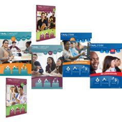Seria książek TaalCompleet[A1-A2] oraz TaalSterk[B1-B2]