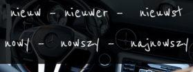Stopniowanie i użycie przymiotnika nieuw – nowy, nowa, nowe w języku niderlandzkim