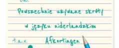 Powszechnie używane skróty w języku niderlandzkim / holenderskim – Afkortingen [lista + wideo]