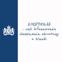 Zorgtoeslag 2021 – czyli dofinansowanie |dodatek| do ubezpieczenia zdrowotnego w Holandii